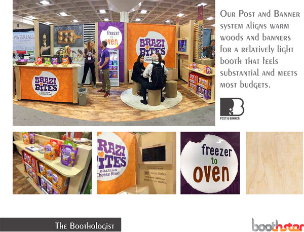 post and banner tradeshow booth design system