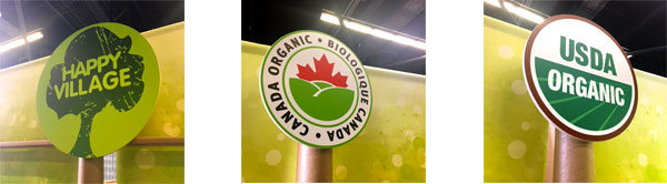 recyclable tradeshow booth design for isik organics