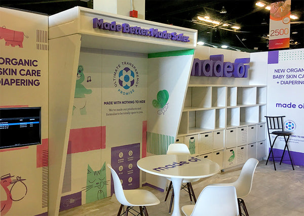 recyclable cardboard tradeshow booth design