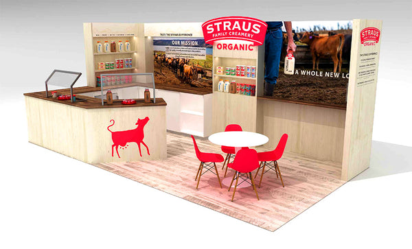 corrugated cardboard used for sustainable tradeshow booth construction