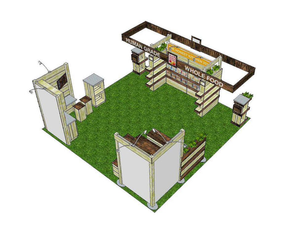 recyclable tradeshow booth design layout