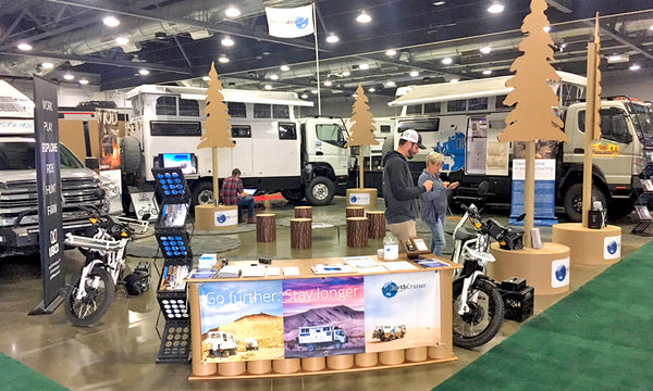 recyclable tradeshow booth exhibit for earthcruiser