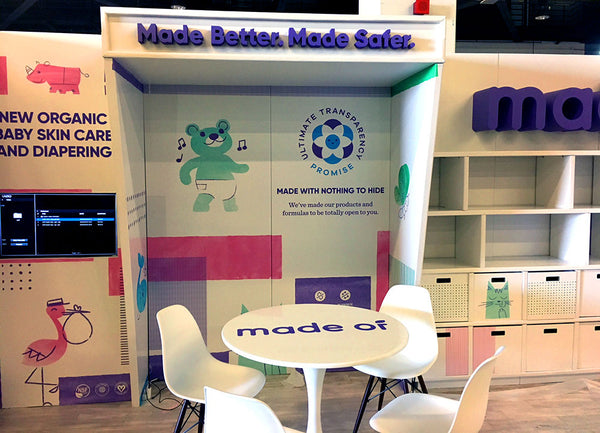 recyclable tradeshow exhibit design for NPEW