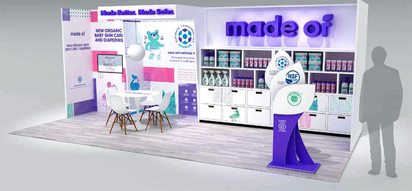 Recyclable Tradeshow Booth Design for Made Of