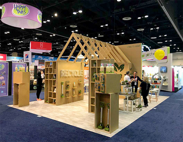 ecofriendly tradeshow booth design for earth rated