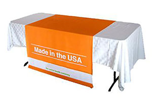 tradeshow table runner