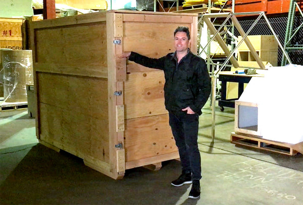 the Boothologist demonstrates custom tradeshow booth shipping and logistics