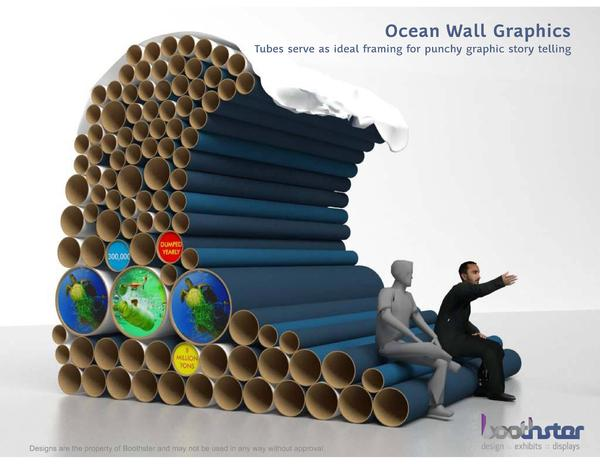 Sustainable properties of cardboard for tradeshow booth structures