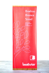 Boothster Recyclable Bamboo Banner Stand