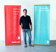 Boothster Recyclable Bamboo Banner Stands