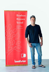Vertical Bamboo Banner Stand