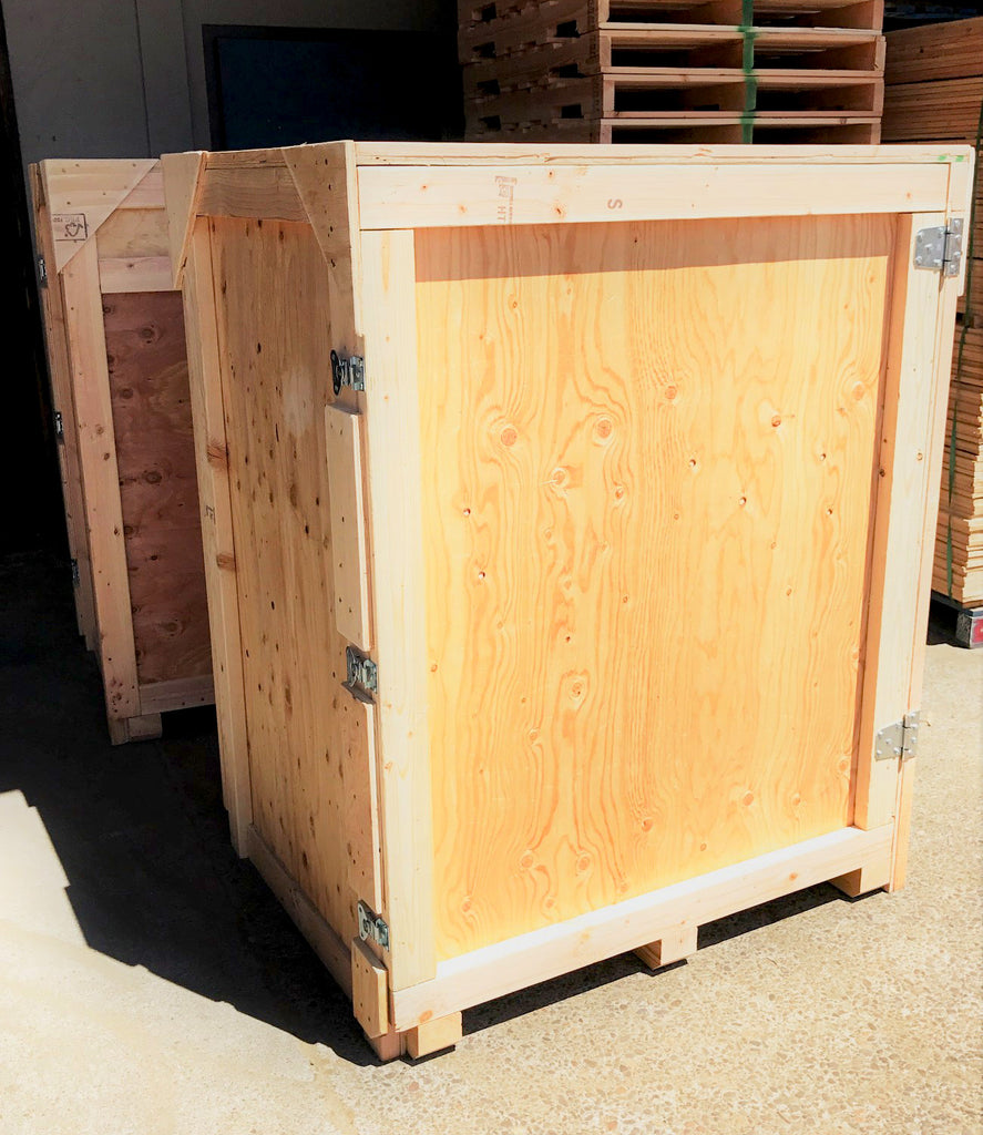 Wood Trade Show Booth : Wood tradeshow shipping crate u2013 boothster
