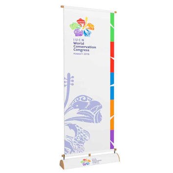 Full Size Green Vertical Banner Stands