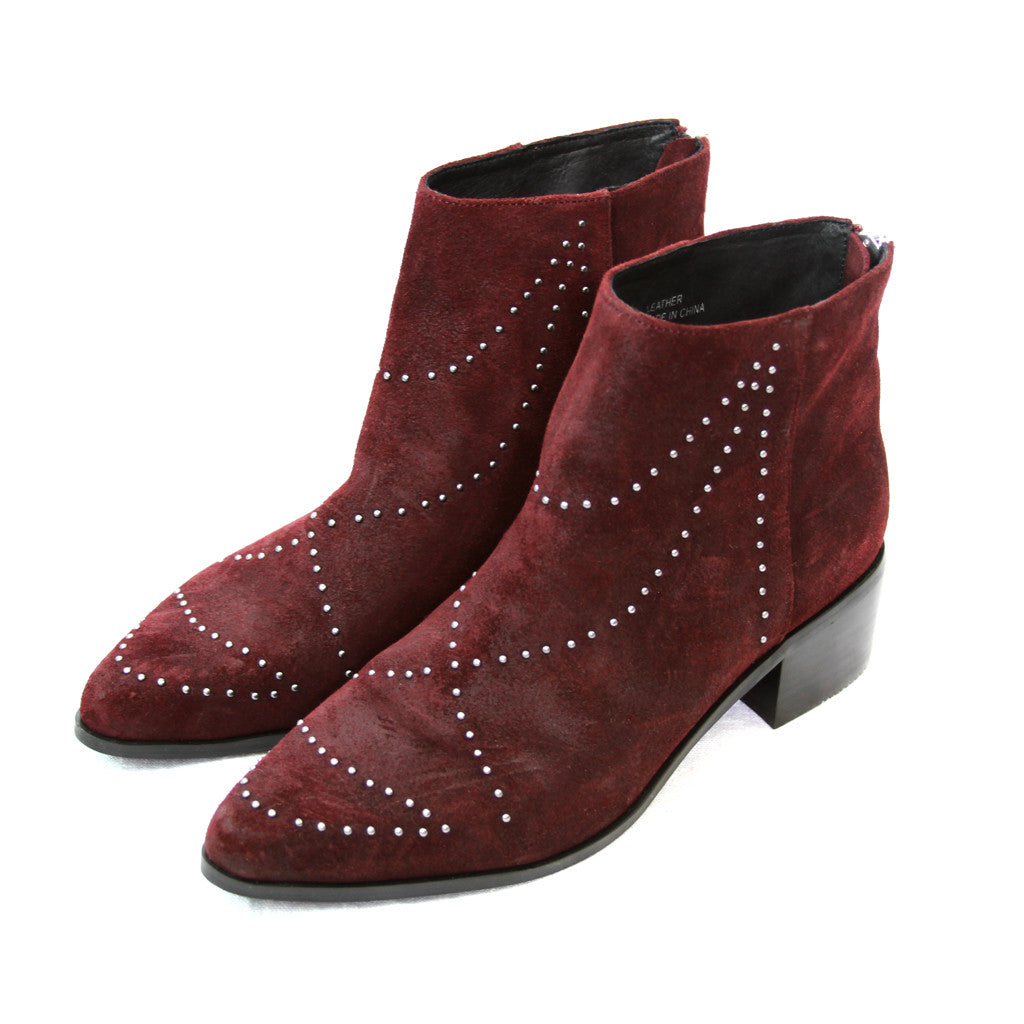Grey City Wendy Cabernet Suede Bootie