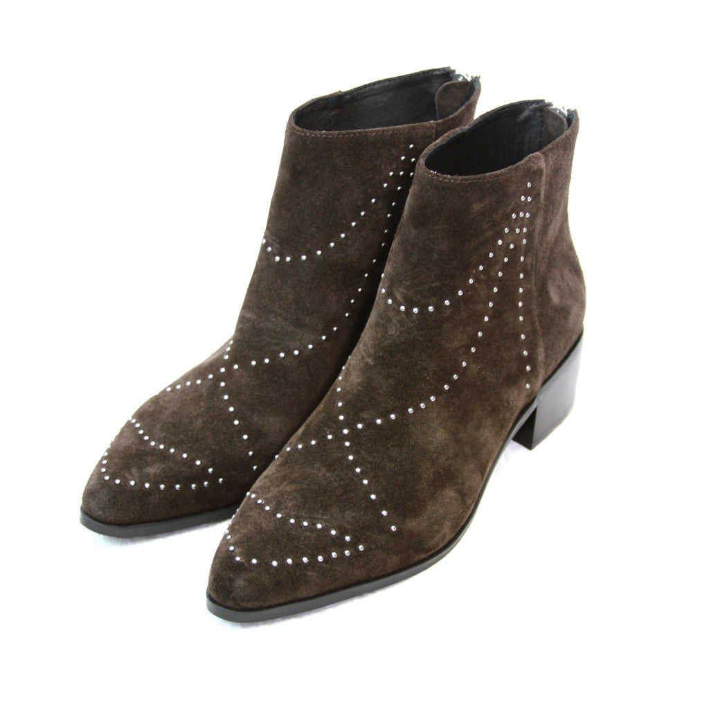 Grey City Wendy Chocolate Suede Bootie