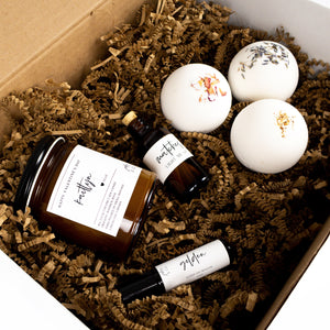 GIFT SET - LARGE (CANDLE W/ CUSTOMIZED LABEL)