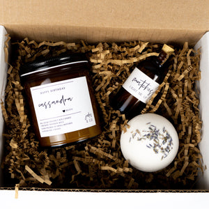 GIFT SET - SMALL (CANDLE W/ CUSTOMIZED LABEL)