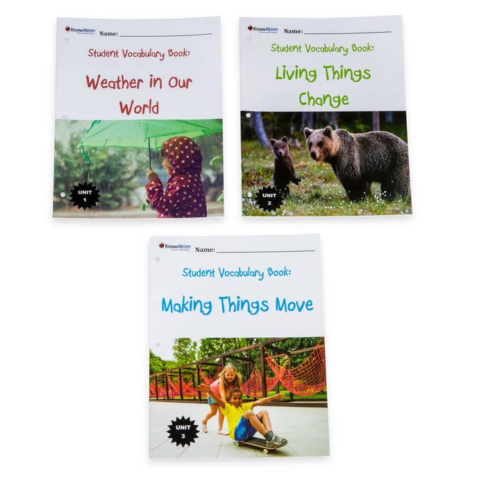 Kindergarten NGSS Non-fiction Vocabulary Journals