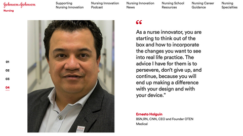 Ernesto Holguin, RN designed a product to manage multiple IV lines and tubing
