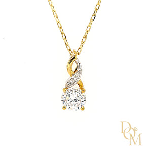 Load image into Gallery viewer, 9ct Yellow Gold CZ Infinity Twist Pendant