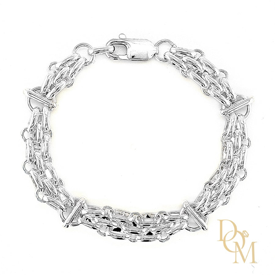Load image into Gallery viewer, Sterling Silver Gate Style Bracelet