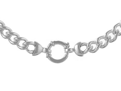 Load image into Gallery viewer, Sterling Silver Curb Link Bracelet