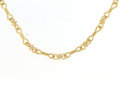 9ct Gold Elongated Link Bracelet - Diana O'Mahony Jewellers