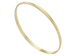 9ct Yellow Gold Plain Bangle- 4mm- Oval