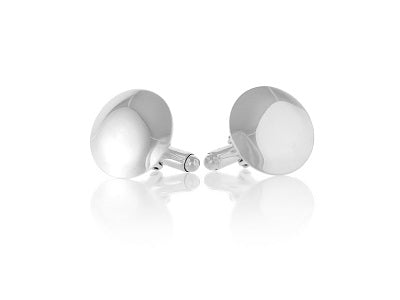 Sterling Silver Round Domed Cufflinks