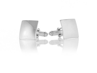 Sterling Silver Square Domed Cufflinks