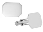 Sterling Silver Classical Rectangular Cufflinks