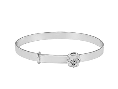Sterling Silver Claddagh Baby Bangle - Diana O'Mahony Jewellers