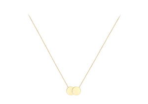 9ct Gold Double Circle Disc Engravable Necklace - Diana O'Mahony Jewellers