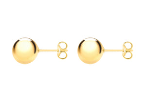 9ct Gold 12mm Ball Stud Earrings - Diana O'Mahony Jewellers