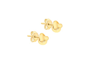 Load image into Gallery viewer, 9ct Gold 8mm Knot Stud Earrings - Diana O'Mahony Jewellers