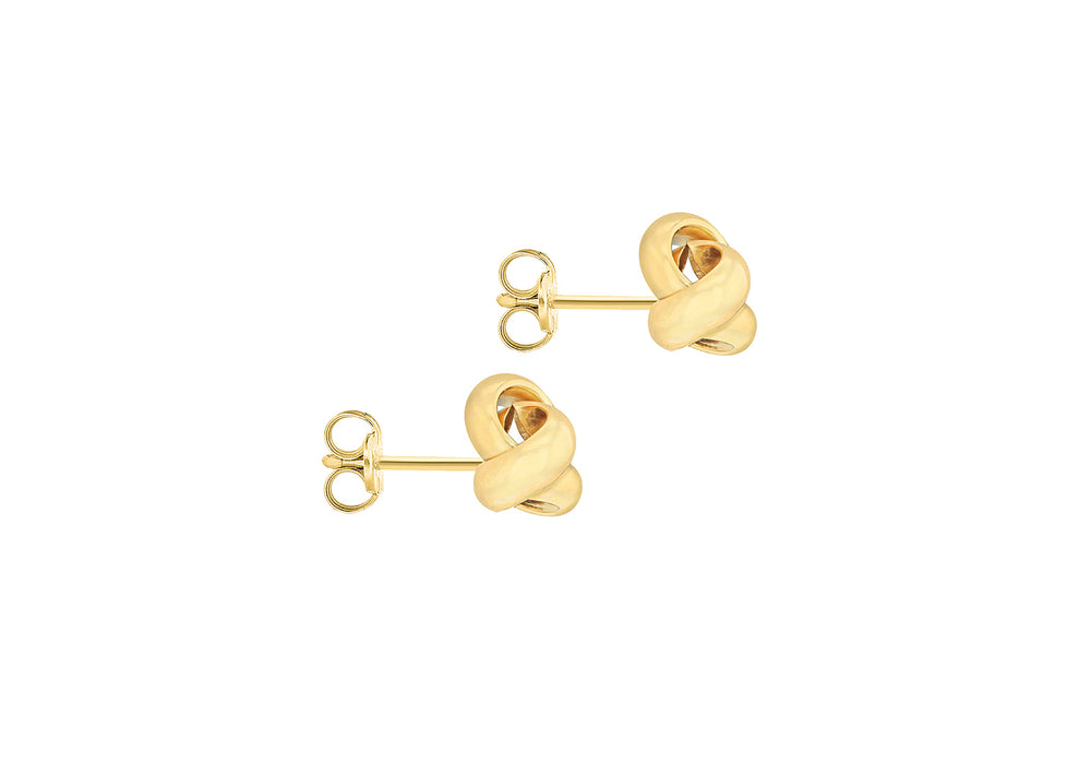 9ct Gold 8mm Knot Stud Earrings - Diana O'Mahony Jewellers
