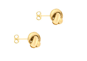 9ct Gold Rounded 10mm Knot Stud Earrings - Diana O'Mahony Jewellers