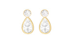 9ct Gold Round & Teardrop Stud Earrings