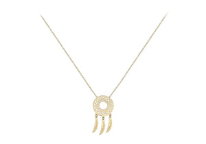9ct Yellow Gold Dream-catcher Necklace