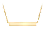 9ct Yellow Gold Horizontal Bar Necklace