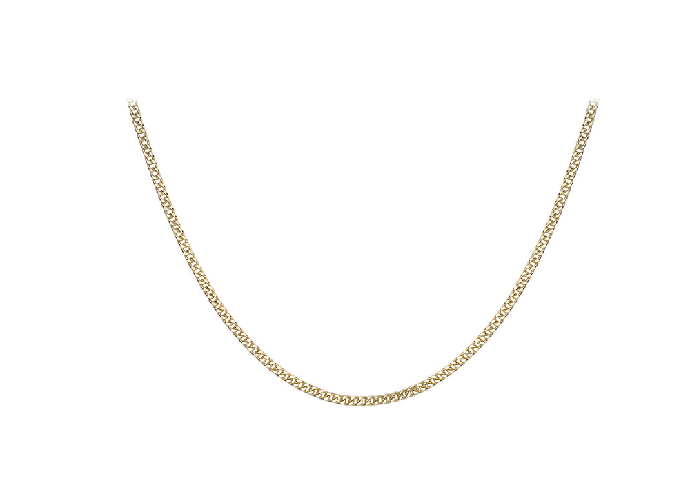 9ct Gold Square Spiga Link Chain - Diana O'Mahony Jewellers