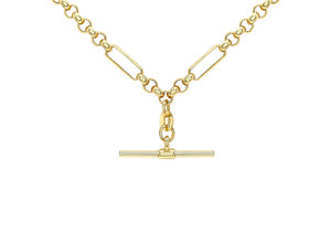 Load image into Gallery viewer, 9ct Gold Albert Style T-Bar Chain - Diana O'Mahony Jewellers