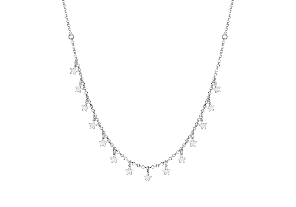 Sterling Silver Dangly Star Necklace