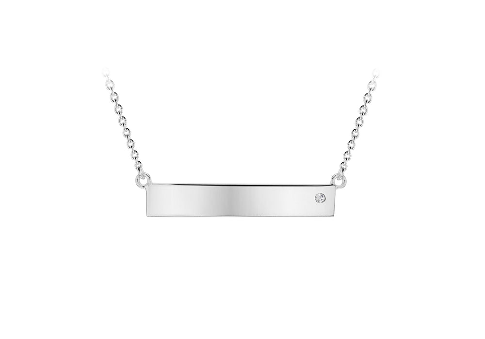 Sterling Silver Horizontal Bar Necklace