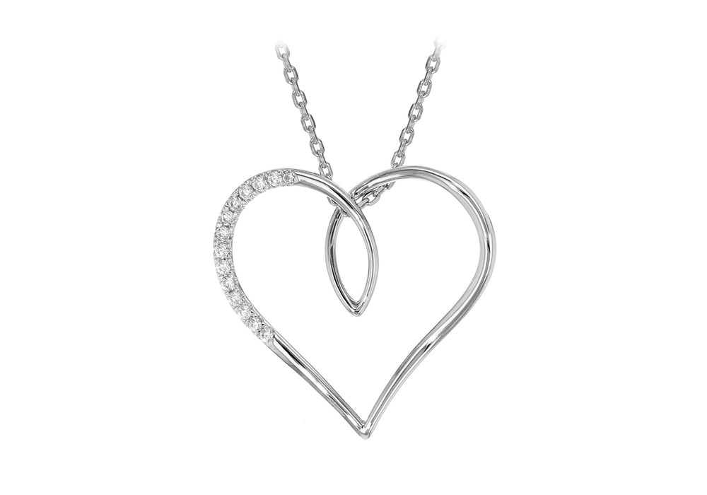 Sterling Silver Large Open Heart Pendant