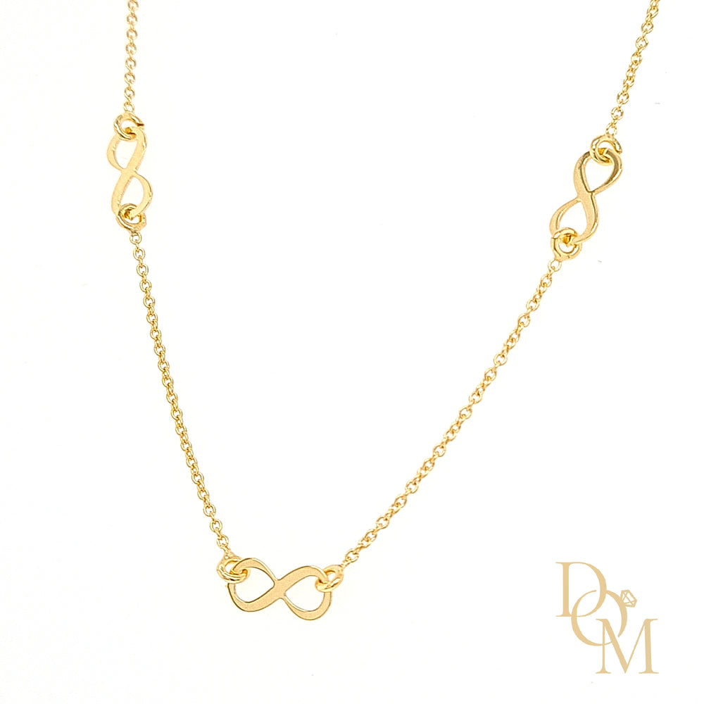 9ct Yellow Gold Infinity Knot Necklace