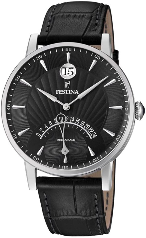 Gents Festina Leather Strap Watch