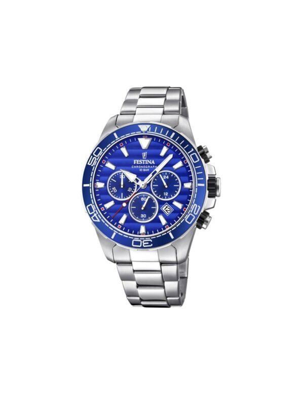 Gents Festina Steel Bracelet Chronograph Watch