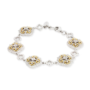 Paul Costelloe Two Tone Ornate Vintage Style Cluster Bracelet - PC8031