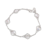 Paul Costelloe Sterling Silver Marquise Cluster Bracelet - PC8048